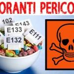 IL COLORANTE E102  oltre che tossico è anche estrogenico