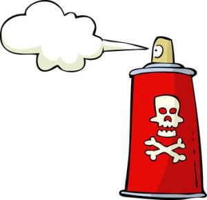 Poison spray on white background vector illustration