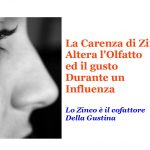Perché si altera il gusto e l'olfatto durate un influenza?