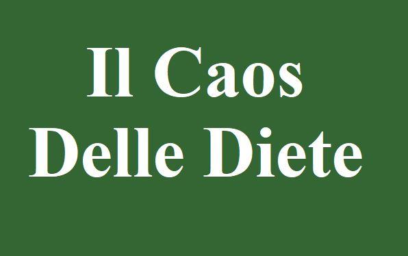 Il Caos delle diete: Ci sono in circolazione tante diete, ognuna basata su concetti scientifici diversi. Chi ha ragione? Difficile stabilirlo; Tutti vogliono avere ragione, come i partiti politici delle varie fazioni. tutto ciò crea caos e confusione; io nel mio piccolo ho trovato la dietagift del Medico Luca Speciani, come metodo corretto.
