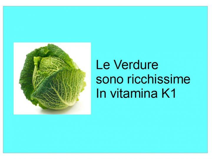 le verdure sono ricche di vitamina K