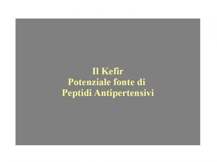 Kefir antipertensivo: potenziale fonte di peptidi antipertensivi ace inibitori