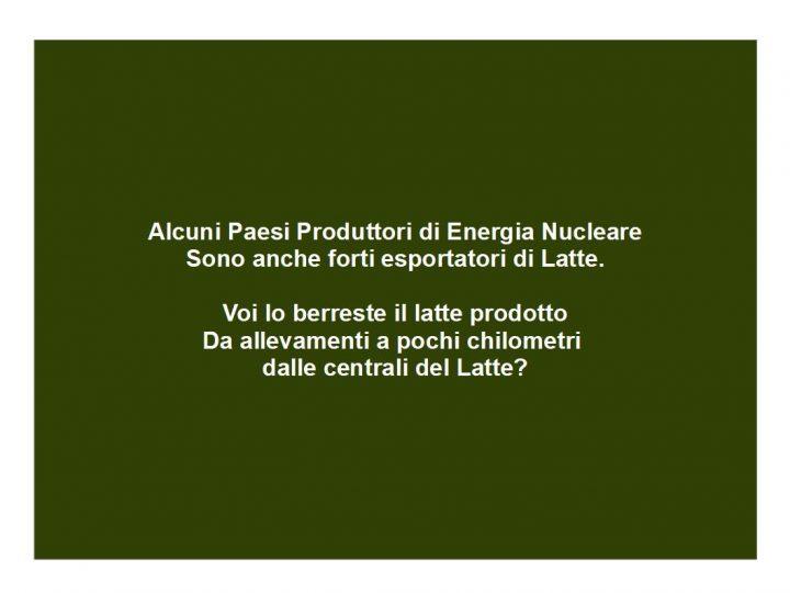 alcuni paesi produttori di energia nucleare, sono anche forti esportatori di latte