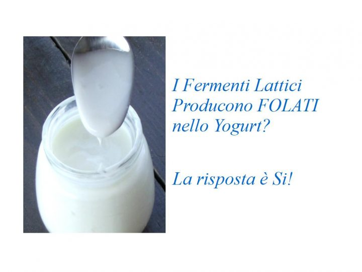 Folati nel Latte e Yogurt