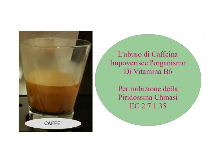 Il caffè impoverisce l'organismo di Vitamina B6