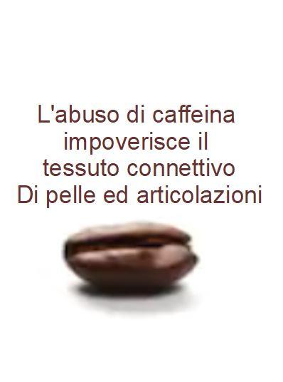 Il caffè indebolisce articolazioni e pelle