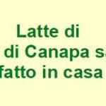 Latte di semi di Canapa