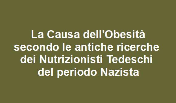 La causa dell'Obesità secondo gli storici Nutrizionisti Tedeschi